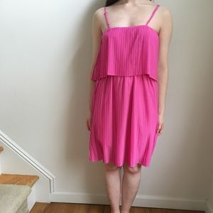 Dresses & Skirts - Pink Pleated Dress